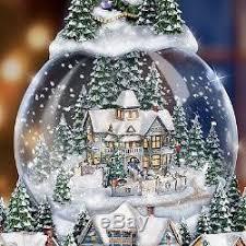 thomas kinkade lighted pictures thomas kinkade lighted musical snow globe christmas tree holiday