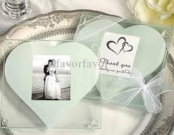 coaster favors glass photo coasters with white heart design wedding favors glass