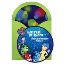 Online Invitation Card Design Free Inside Out Birthday Party Online Invitation Disney Family