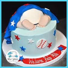 baseball baby shower buttercream baseball baby shower cake blue sheep bake shop
