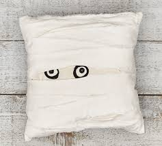 halloween pillow mummy pillows the green head
