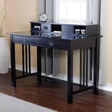 Black Writing Desk With Hutch Black Desk Black Writing Desk
