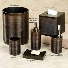 sweetlooking bathroom wastebasket sets on bathroom set home