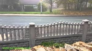 p u0026a fencing decorative concrete fence panels uk youtube