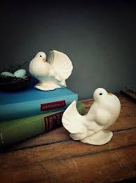 dove cake topper dove pair ceramic doves china birds figurines wedding