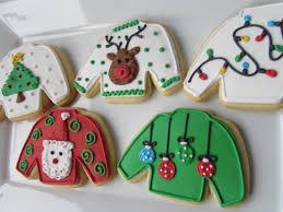 ugly sweater cookies christmas cookies christmas favors