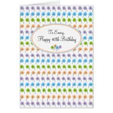 a happy 40th birthday flower greeting cards zazzle