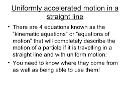acceleration and equations of motion 2