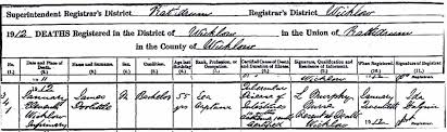 irish deaths civil registration records where to find them and