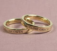 ring with name engraved personalized jewelry from sorella jewelry studio lettering
