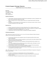 Sample Resume For Product Manager by Production Support Cover Letter