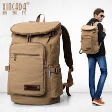 travel backpacks images Xincada men 39 s waterproof casual travel backpacks leather logo jpg