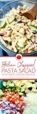 best pasta salad recipe italian pasta salad with recipe video food folks and fun