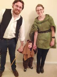 Family With Baby Halloween Costumes Happy Halloween From Baby Ewok Han Solo Leia Leia Costume And