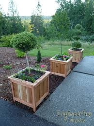 Homemade Planter Boxes by Pretty Front Porch Diy Large Cedar Planter Boxes Diy Planter