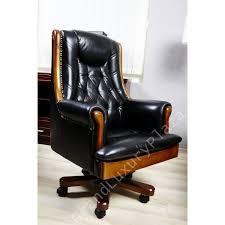 fauteuil de bureau cuir retro