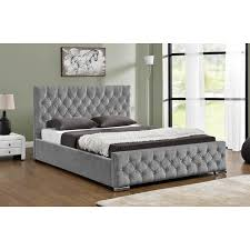 arya silver chenille ottoman bed u2013 next day delivery arya silver