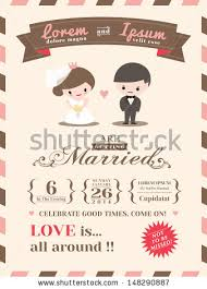wedding card from to groom wedding invitation card template groom stock vector 148290887