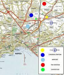 Napoli Map by Mappa Jpg
