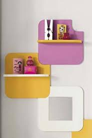mensole per bambini composizione mensole con schienale e specchjio per cameretta vari
