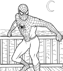 spiderman color color pages print free spiderman