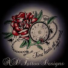 time heals custom tattoo and tattoo designs on pinterest tattoos