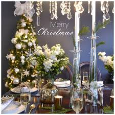 Navy And White Christmas Decorations by Christmas Table Styling Design By Occasion