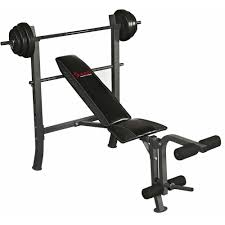 sunny health and fitness sf bh6510 100 lb weight bench set