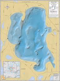 Wisconsin Lake Maps Fence Lake Wall Map