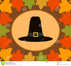 autumn thanksgiving day background with pilgrim h stock images