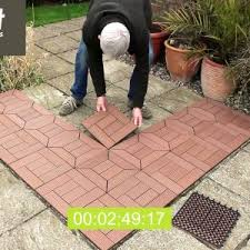 floor how to install interlocking deck tiles with grass and wood