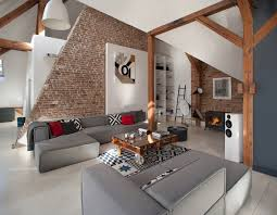 beauty of brick walls and timber structure apartment in poznan