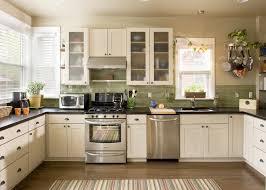 Green Tile Kitchen Backsplash Green Subway Tile Backsplash Kitchen With Coffered Ceiling