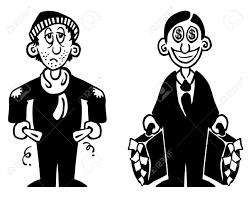 imagenes negro rico ilustración en blanco y negro de un pobre y un rico ilustraciones