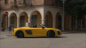 Audi R8 Yellow - video overview audi r8 v10 spyder yellow caricos com