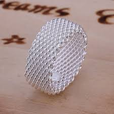 fine fashion rings images Free shipping 925 silver ring fine fashion net ring women men gift jpeg