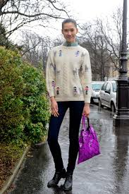 granny chic granny chic paris street style off duty models fall 2012 shows