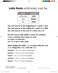 what is the latin root meaning light word parts from greek and latin roots