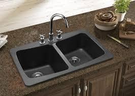 Fascinating  Black Cast Iron Kitchen Sinks Design Ideas Of - Drop in kitchen sinks