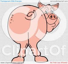clipart cartoon pig smiling royalty