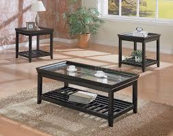 3 piece black coffee table sets coffee tables set
