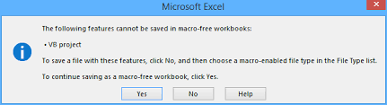 how to create a macro enabled template in excel