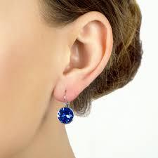 are leverback earrings for pierced ears 9mm cut leverback earrings blue