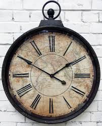 map design large fob wall clock this fob watch style metal wall