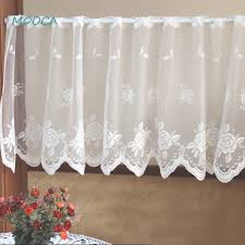 White Cafe Curtains White Lace Kitchen Curtain Decorative Curtain Cafe