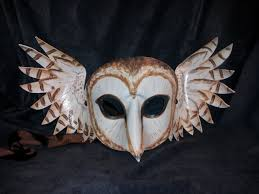 owl mask handmade leather owl mask by jedi with wings on deviantart