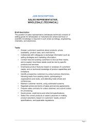 cover letter sample sales representative wholesale professional