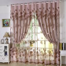 curtain designer luxury modern leaves designer curtain tulle window sheer curtain set