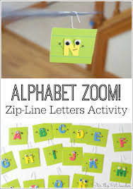 How To Build A Backyard Zip Line by Alphabet Zoom Zip Line Letters Activity Stir The Wonder