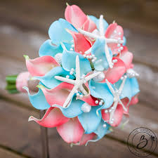 wedding bouquets with seashells tropical wedding bouquet seashell bouquet coral calla